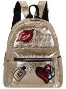 Купить Женский рюкзак 63-8-9 золотой недорого