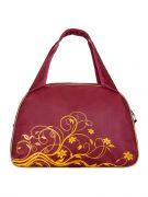 Купить Спортивная сумка 4195, бордо/золотой недорого