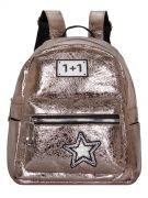 Женский рюкзак 63-8-1 иск.кожа бронза