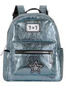 Женский рюкзак 63-8-1 иск.кожа голубой
