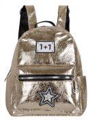 Женский рюкзак 63-8-1 иск.кожа золотой