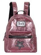 Женский рюкзак 63-8-1 иск.кожа розовый