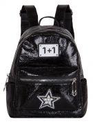 Женский рюкзак 63-8-1 иск.кожа черный