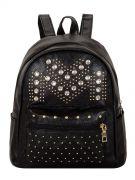 Женский рюкзак 63-6607 иск.кожа черн.