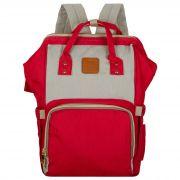 Женский рюкзак тал-6500, красно-бежевый