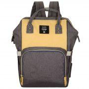 Женский рюкзак тал-6500, серо-лимоный