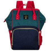 Женский рюкзак тал-6500, красно-зеленый