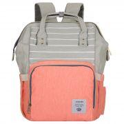 Женский рюкзак тал-6500, персиковый/серый