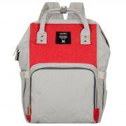 Женский рюкзак тал-6500, серый/красный