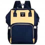 Женский рюкзак тал-6500, темно-синий/лимон
