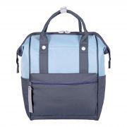 Молодежный рюкзак S083 серый-голубой