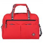 Дорожная сумка и косметичка №86, красный